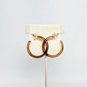 💢3 for $25💢Impress Amber Lucite Hoop Earrings
